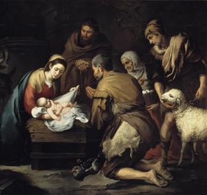 Adoración de los pastores al Niño Dios (ft img)