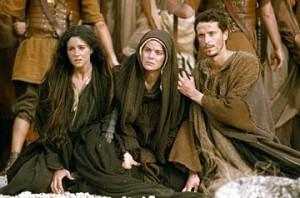 María y Juan al pie de la cruz