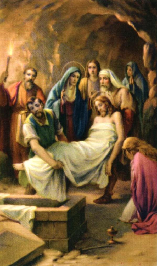 Decimocuarta estación Jesús en el sepulcro