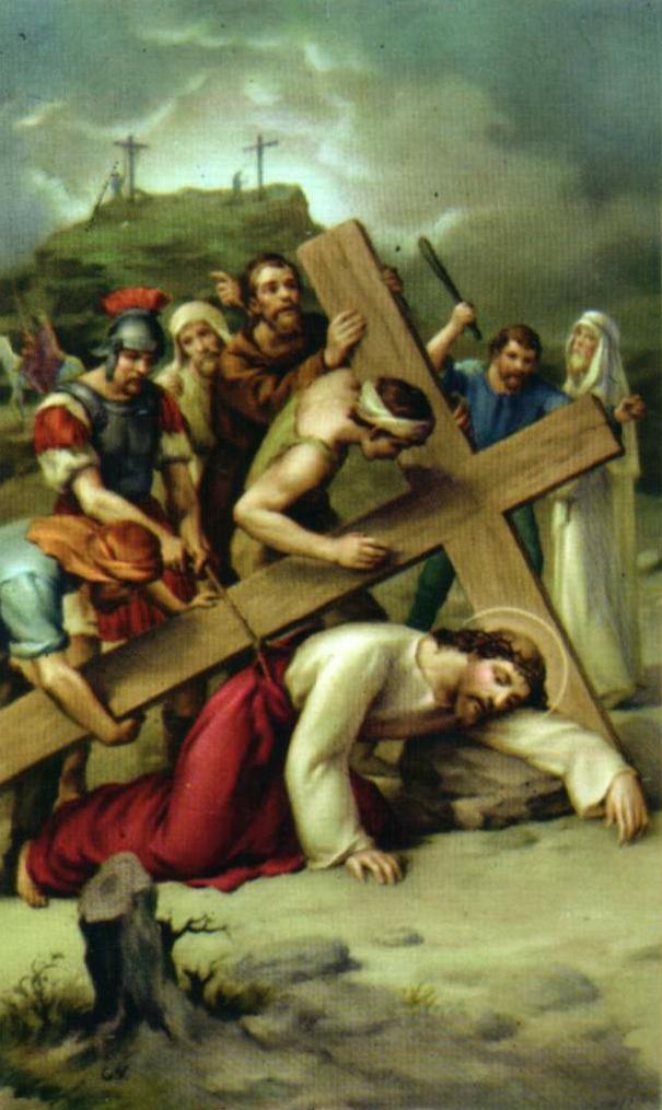 Novena Estación Jesús cae por tercera vez