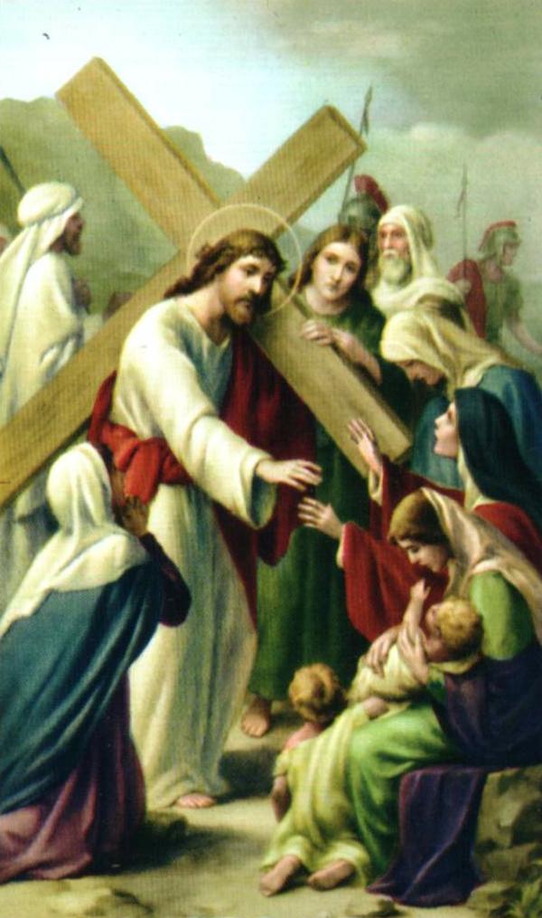 Octava estación Las mujeres lloran por Jesús