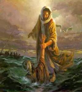 Pedro se hunde en el agua