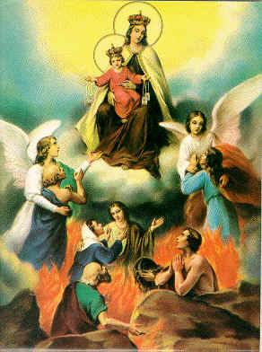 Visita de la Virgen al purgatorio