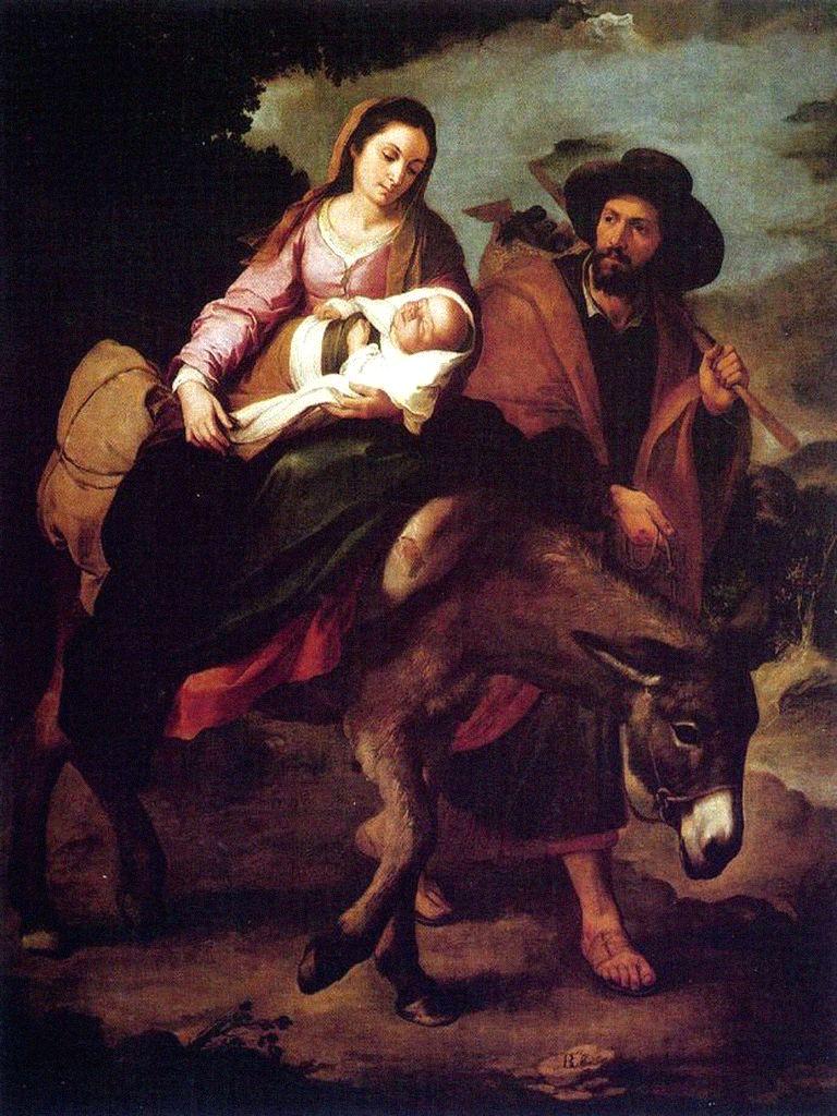 La Virgen, San José y el Niño