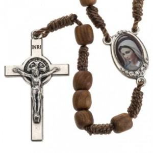 Rosario con la Cruz de san Benito y la Virgen