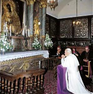 Juan Pablo II y Madre de la Misericordia