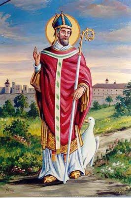 San Martín de Tours y ganso