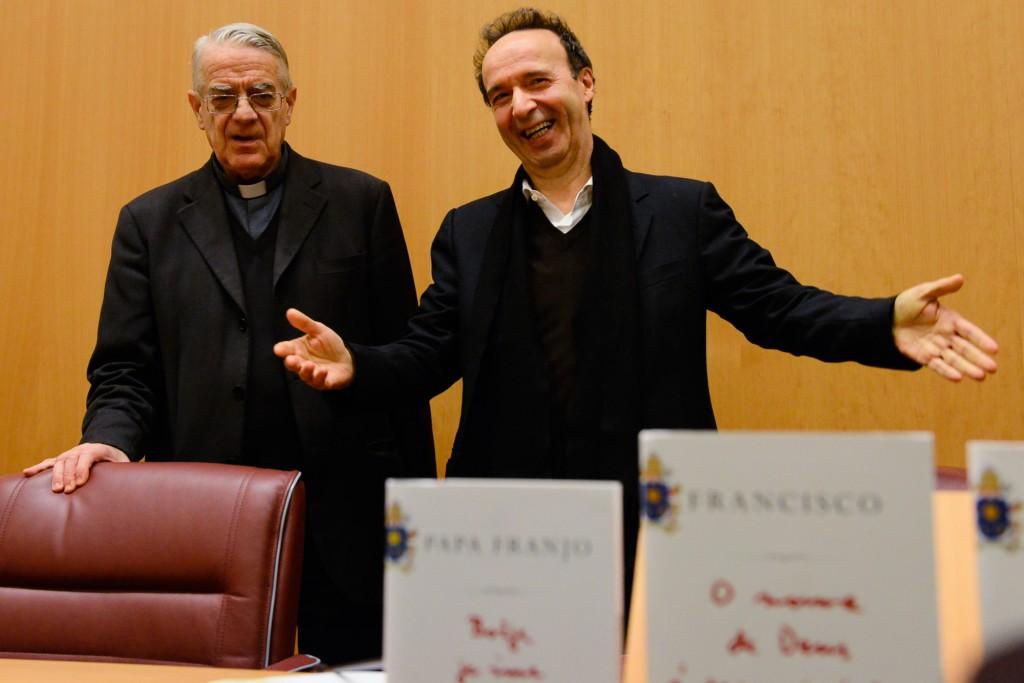Presentazione libro Tornielli con Benigni