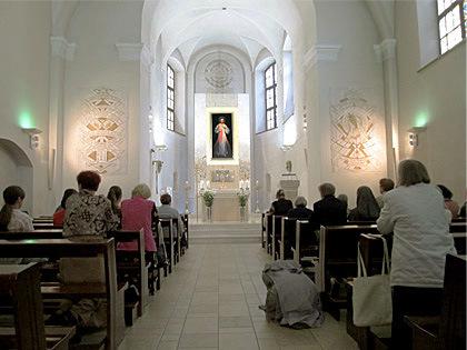 Divina Misericordia en Vilna, calle Dominikonu