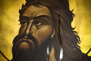 Icono San Juan Bautista con aceite