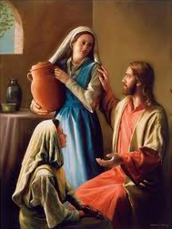 Marta y María a los pies de Jesús