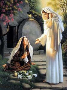 María Magadalena y Jesús Resucitado