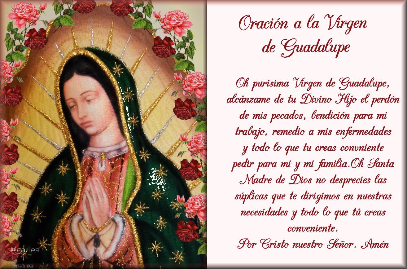 Imagen Oración Virgen de Guadalupe