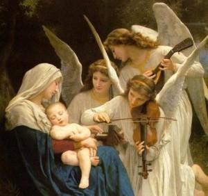 ángeles de Dios la Virgen y el Niño (ft img)