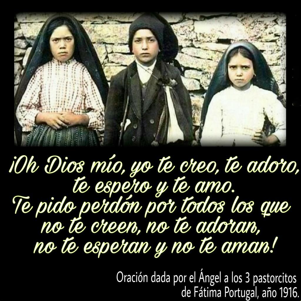 oración pastorcitos de Fátima