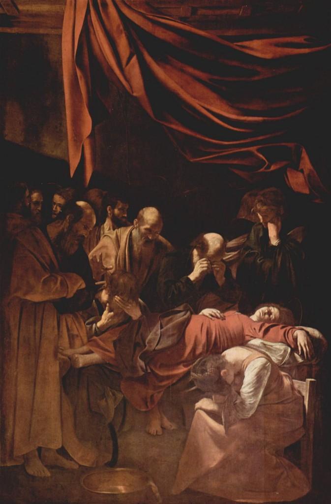 Muerte de la Virgen de Caravaggio