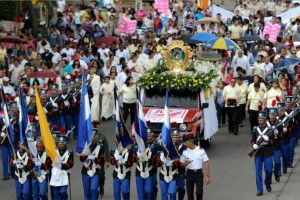 procesión Virgen de Suyapa