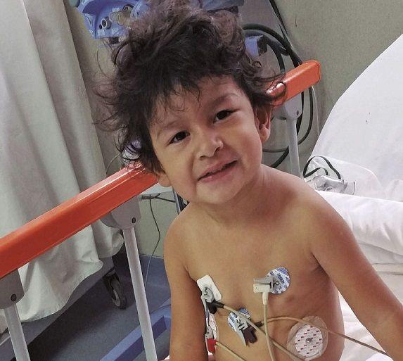 Alejandra Junco en el hospital