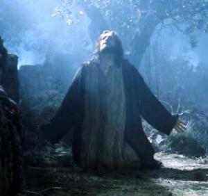 Jesús orando en el huerto de los olivos